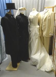 """Hochzeitspaar """"Einst und Jetzt"""" 1900 und 2005"""